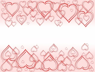 Nice tafla hearts on a pink background with white center