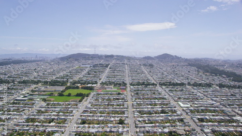 Aerial San Francisco Golden Gate Park City Bay Area Stock Footage