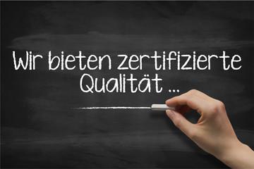 wir bieten zertifizierte qualität 2803