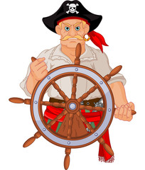 Pirate at the wheel
