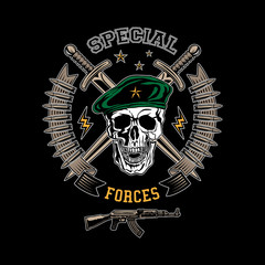 Special forces color emblem
