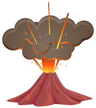 Volcano first blow vector image