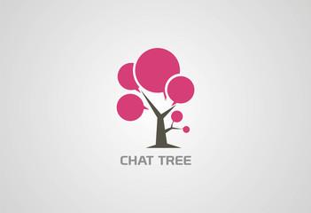 Tree Chat logo vector