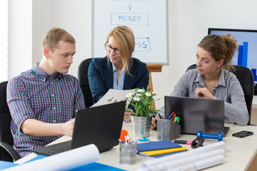 Young business team at work