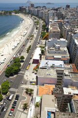Rio de Janeiro, Brazil - Copacabana Beach panorama