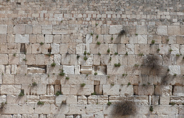 Stones of the Wailing wall - Jerusalem