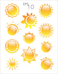 Sun logo on a white background