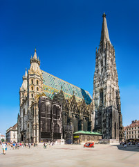 Photo sur Toile Vienne Stephansdom (St. Stephen's Cathedral), Vienna, Austria