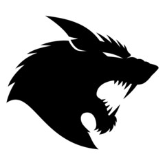 Vector sign. Werewolf.