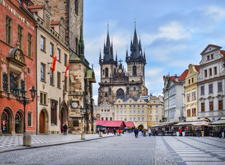 Photo sur Aluminium Prague Prague, Czech Republic, Central Europe, 26.12.2014. The view ove