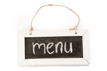 blackboard on rope menu