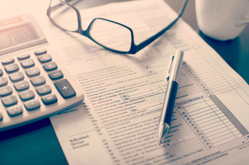 Individual income tax return form,