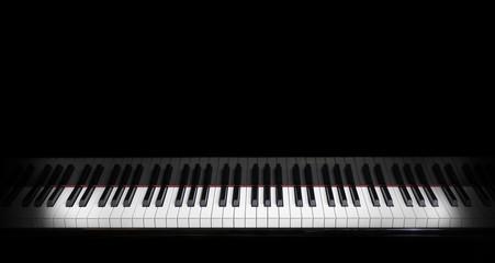 piano keys on black piano