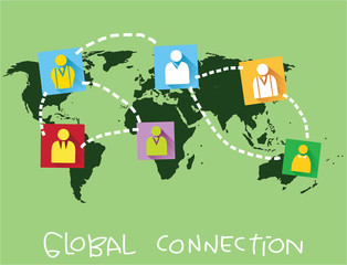 Global Connection Concept