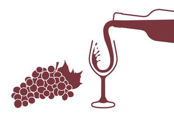 Wein Einschenken - Rotwein