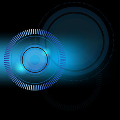 Abstract vector background blue circle technology