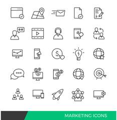 Linear Internet Marketing line icons