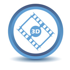 Blue 3d film icon