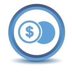 Blue Dollar coin icon