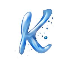 3d water letter K