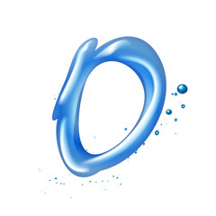 3d water letter O