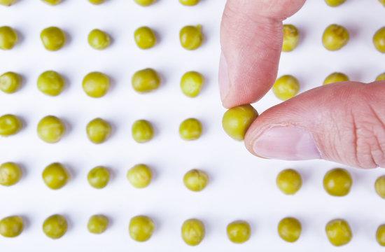 Green peas composition
