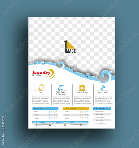 Laundry service flyer poster template stock image and royalty laundry service flyer poster template pronofoot35fo Image collections