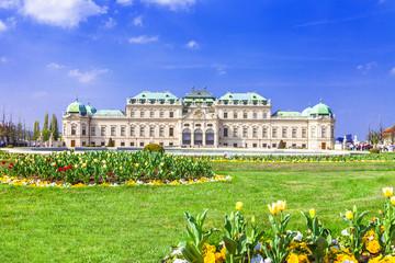 Aluminium Prints Vienna beautiful Belvedere palace, Vienna