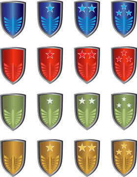 Game achievement badge vector pack
