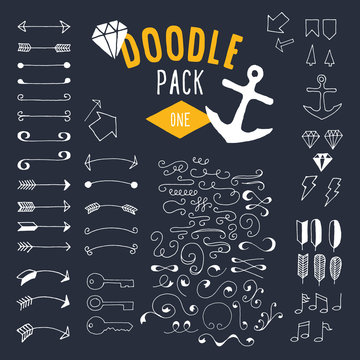 Hand drawn doodle collection.