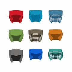 Boxing helmet set