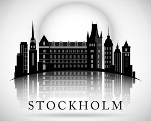 Modern Stockholm City Skyline Design. Sweden