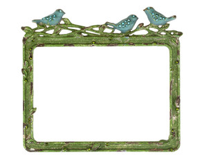 Green Picture Frame with Blue Birds