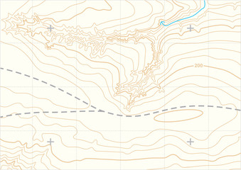Abstract vector topographic map