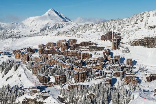 Avoriaz in Winter, seen from les Hauts-Forts