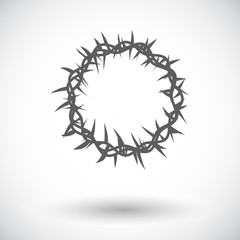 Crown of thorns single icon.