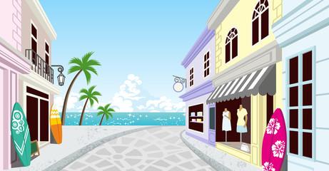 Summer Resort Shopping Street