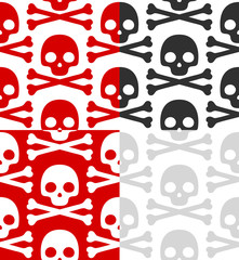 Cartoon Skull pattern set