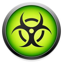 Quarantine, contamination, bio-hazard symbol, sign, icon in gree