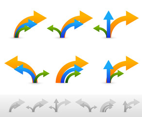 Different compositions of arrows