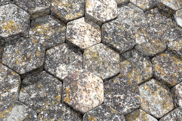 textured stone hexagons