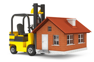 Forklift Truck Moving House
