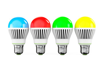 Multicolored LED bulbs