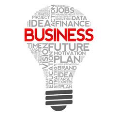 BUSINESS bulb word cloud concept