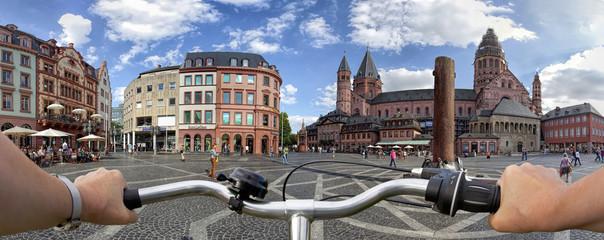 Markplatz Mainz Domplatz via Fahrrad