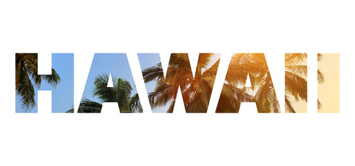 "Background with word ""Hawaii"""
