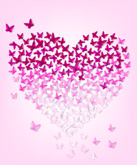 butterflys in the form of heart.