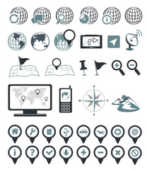 Location and destination icons