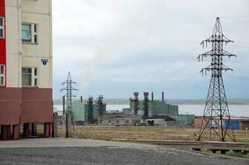 Town power station at Pevek