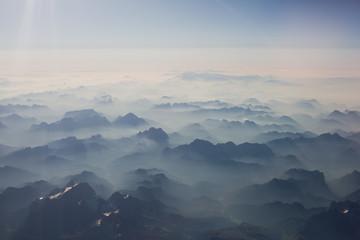Mountains bird's-eye view